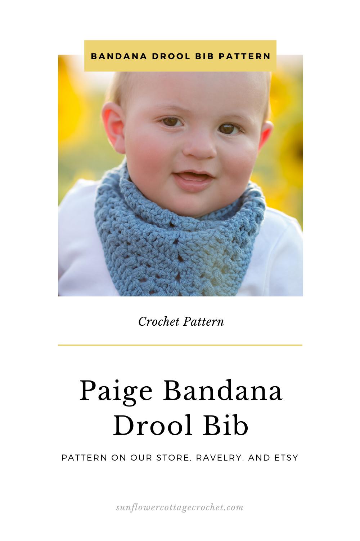 bandana drool bib crochet pattern