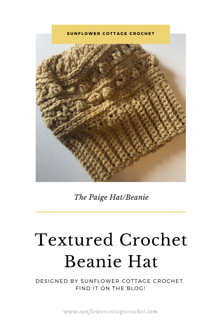 textured beanie crochet pattern