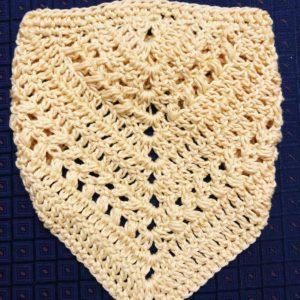 trendy crochet bandana drool bib