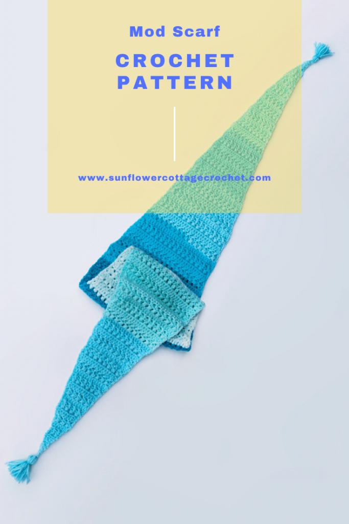 convertible mod scarf crochet pattern