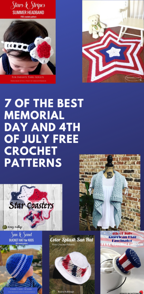 Best memorial day and 4th of july free crochet patterns
