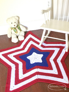 stars and stripes, 4th of july crochet bundle from Ambassador Crochet