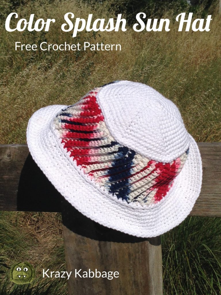 Krazy Kabbage  4th of july crochet American summer hat