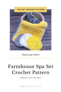 farmhouse spa set crochet pattern