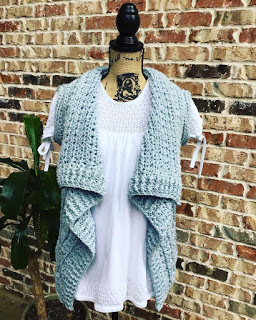 Crochet Forever Cardi 4th of july summer cardi