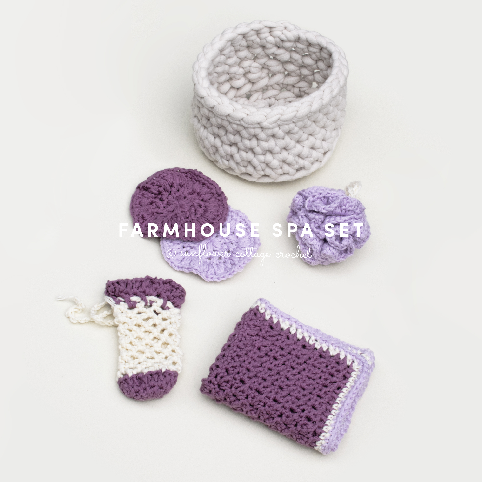 Mother's Day Crochet Gift Idea–Spa Set