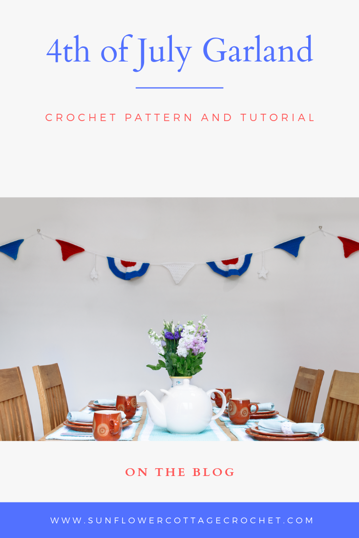 crochet pattern for 4th of july garland or bunting
