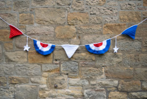 4th of july bunting pattern