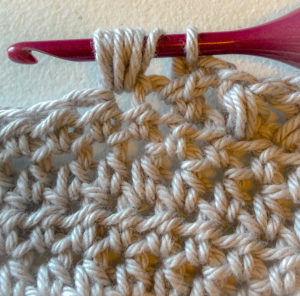 How to do the crochet bean stitch for triangle shawl