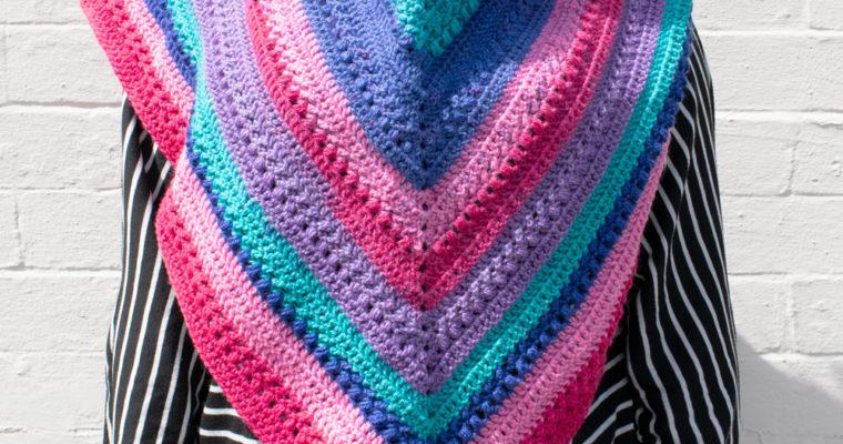 Triangle Shawl Crochet Pattern