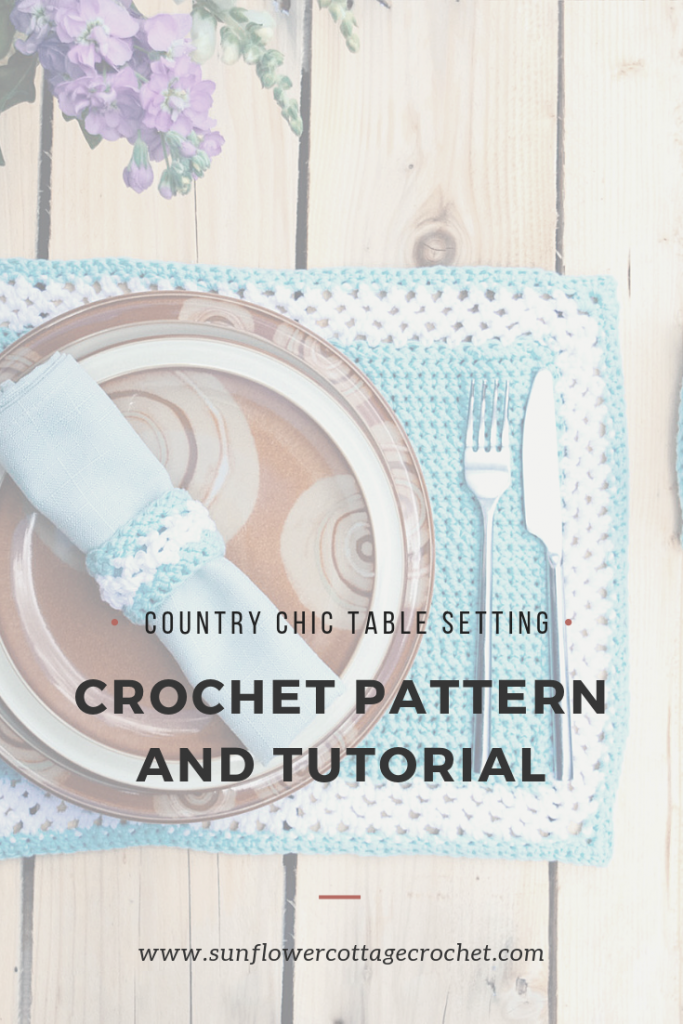 Crochet table set patterns