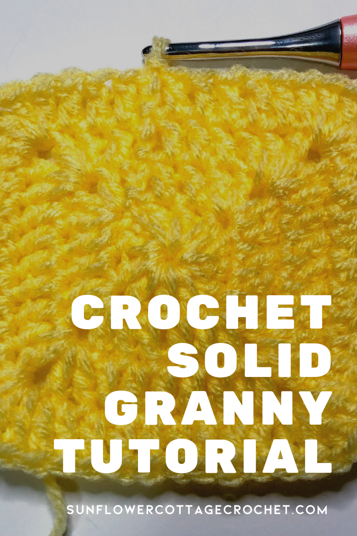 crochet solid granny square tutorial