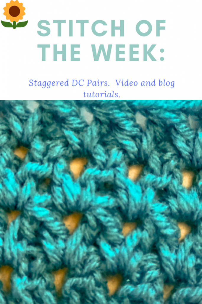 stitch of the week: staggered dc pairs