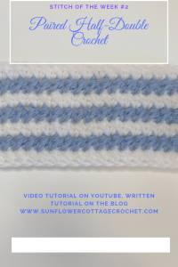 paired half-double crochet stitch tutorial