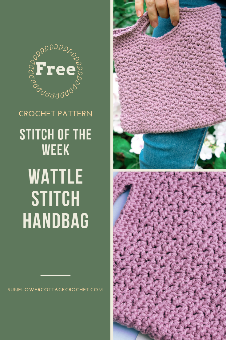free crochet pattern for wattle stitch handbag