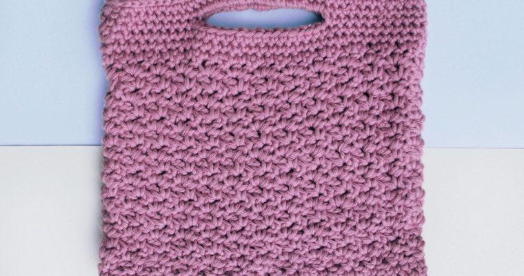 Wattle Stitch Handbag Free Crochet Pattern