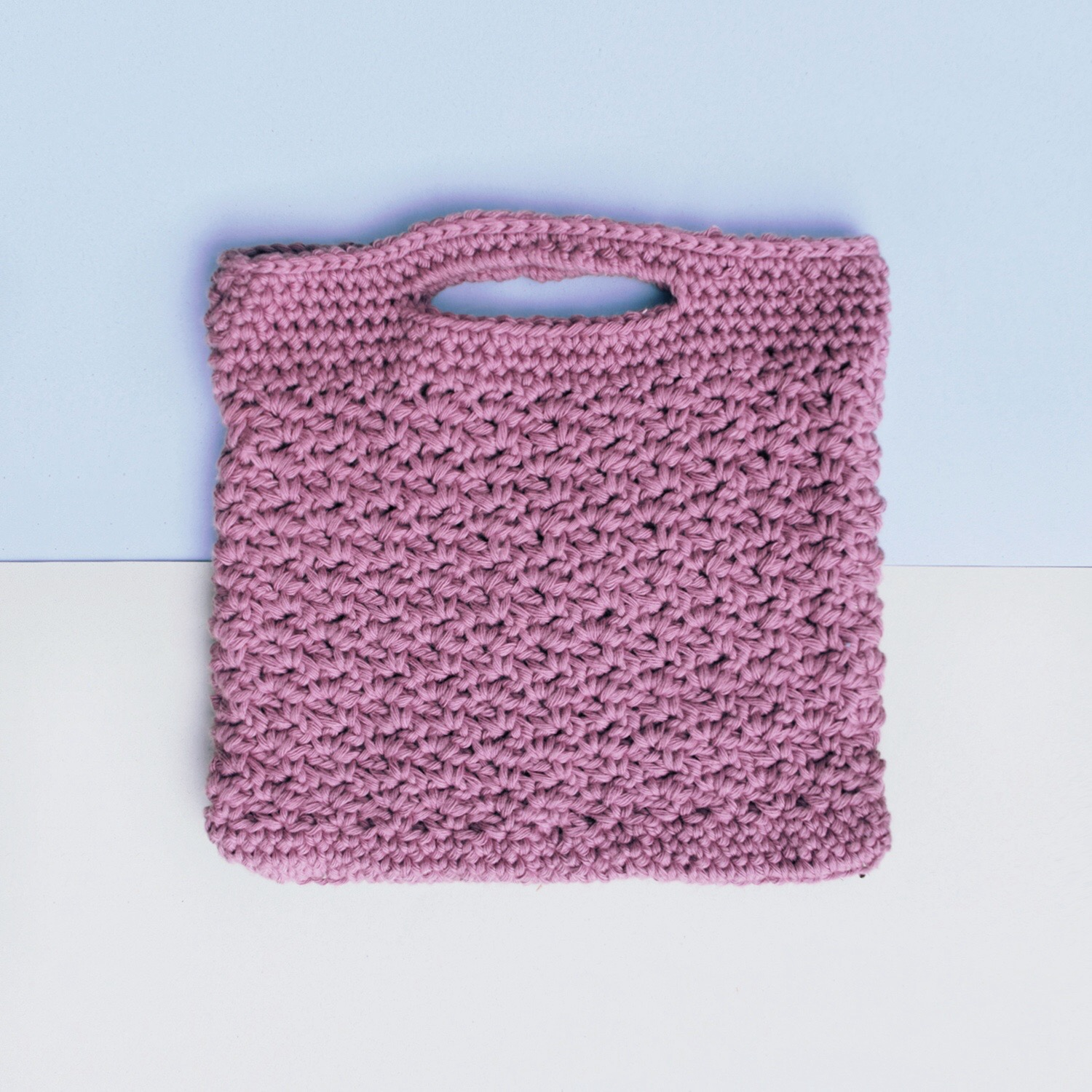 Wattle Stitch Handbag Free Crochet Pattern