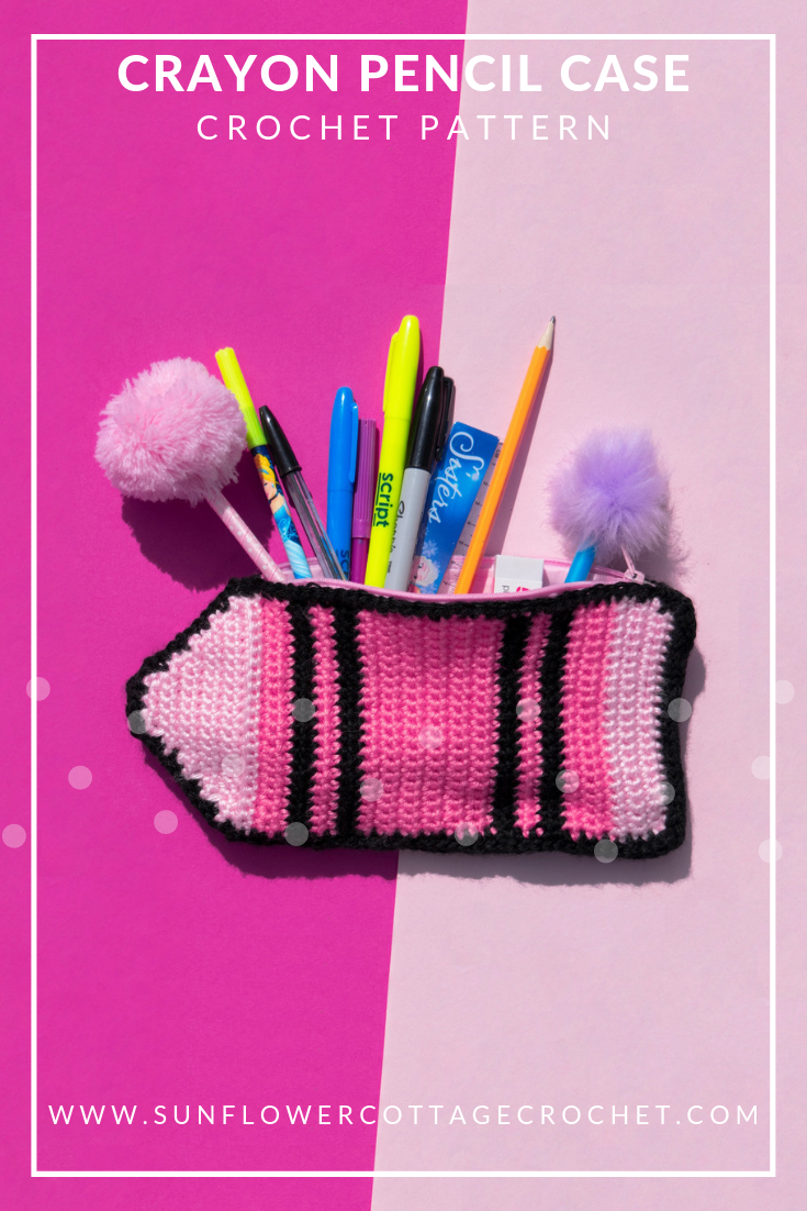 crayon pencil case crochet pattern