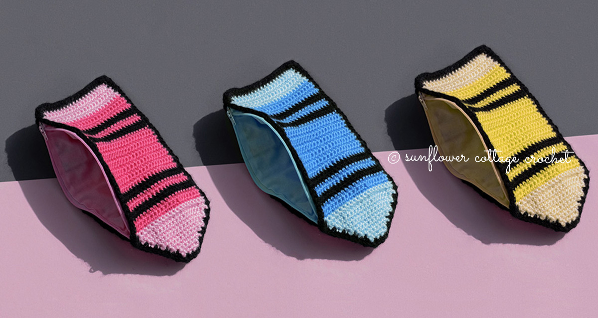 Crayon Pencil Case Crochet Pattern