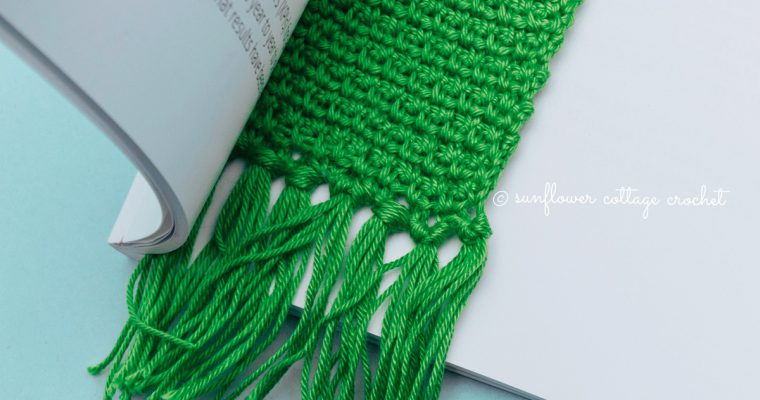 Woven Stitch Bookmark Crochet Pattern