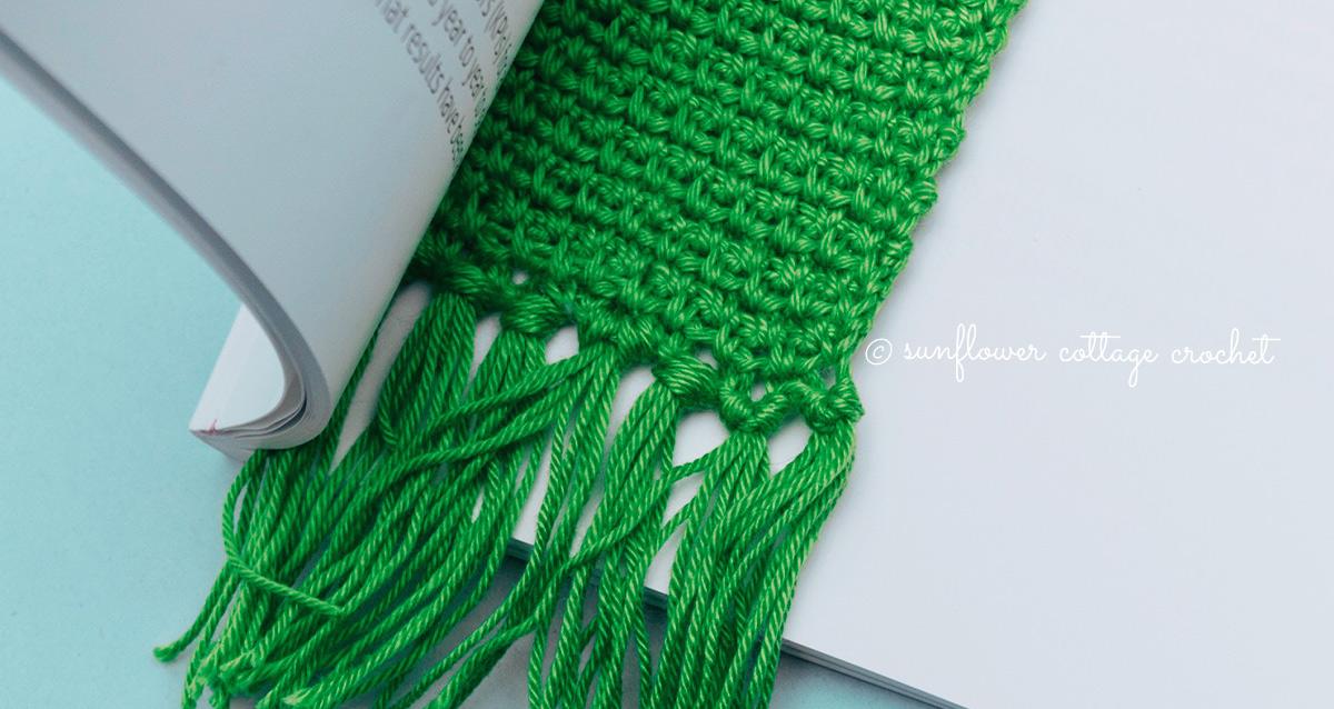 Woven Stitch Bookmark Crochet Pattern