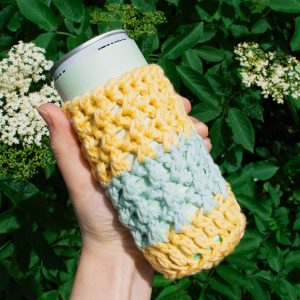 The X's can and glass bottle cozy
