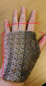 Susan Wrist warmers measurements