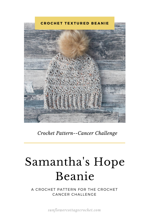 samantha's hope beanie crochet pattern