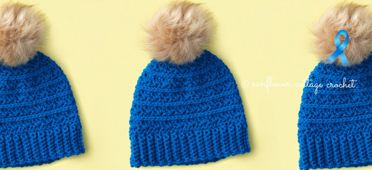 Samantha's Hope Crochet Beanie Pattern for the Cancer Challenge
