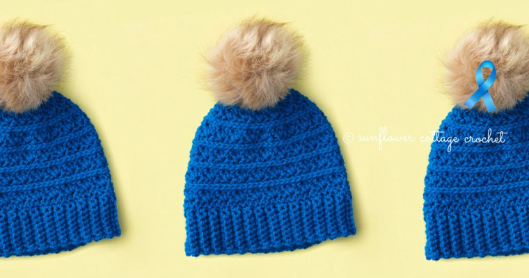 Samantha's Hope Crochet Beanie Pattern–Cancer Challenge