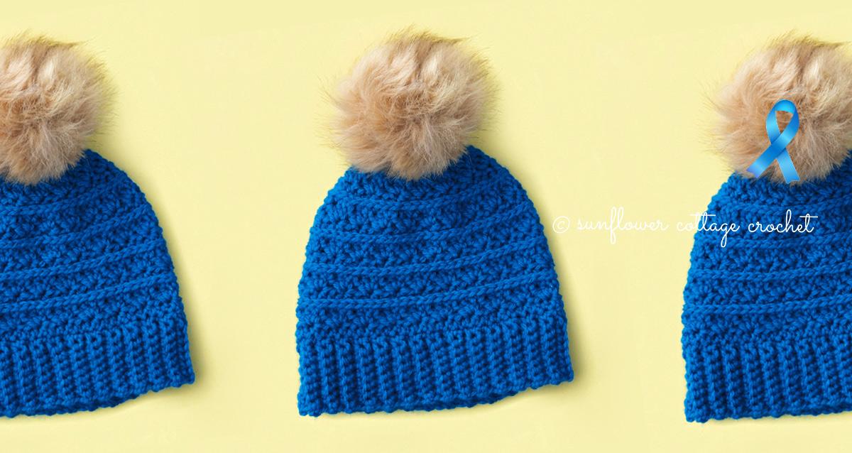 Samantha's Hope Crochet Beanie Pattern–Cancer Challenge