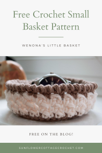 wenona's little basket free crochet pattern