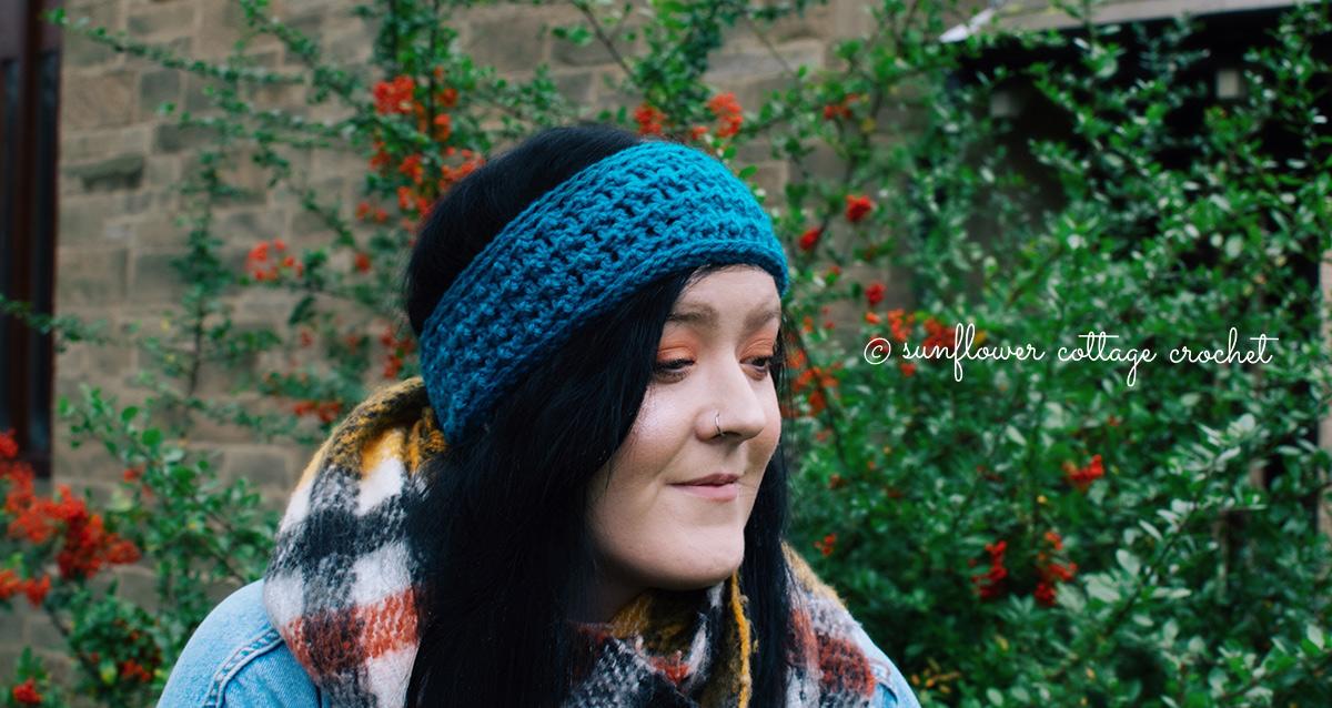 Highland Ear Warmer, Floret stitch - stitch of the week