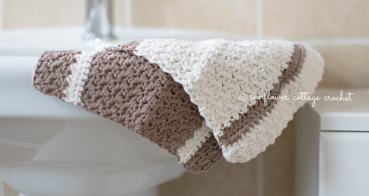 Farmhouse Wash Cloth by Sunflower Cottage Crochet