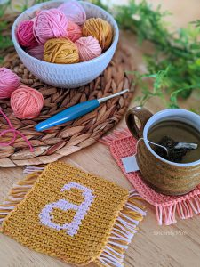 monogrammed mug rugs