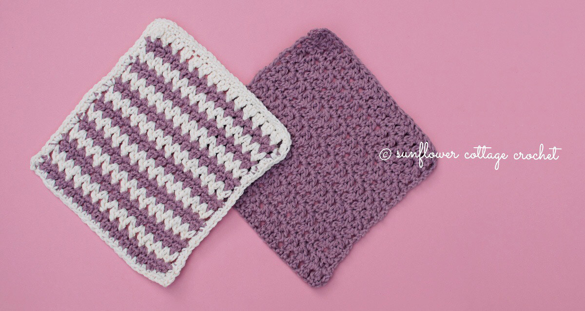 Splash of Color Washcloth Crochet Pattern