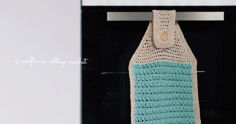 Sunshine-y Hanging Towel Crochet Pattern