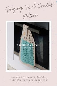 hanging towel crochet pattern