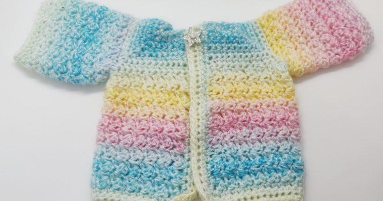 Preemie Cardigan Free pattern