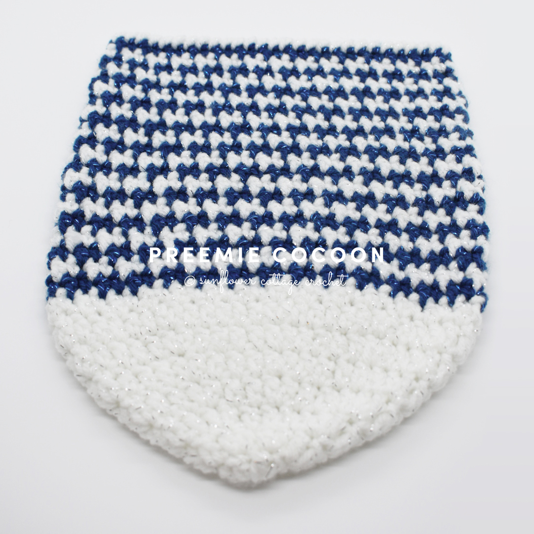 Houndstooth Baby Cocoon Crochet Pattern