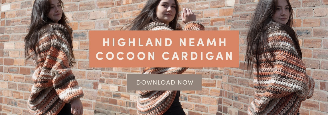 The Highland Neamh Cocoon Cardigan – Free pattern
