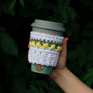 Lemon Drop Coffee Beanie Cozy