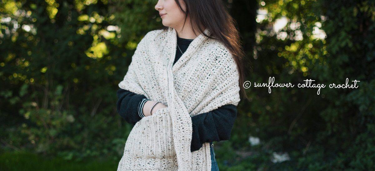 Fireside Pocket Shawl Crochet Pattern