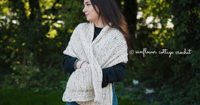 Fireside Pocket Shawl Crochet Pattern