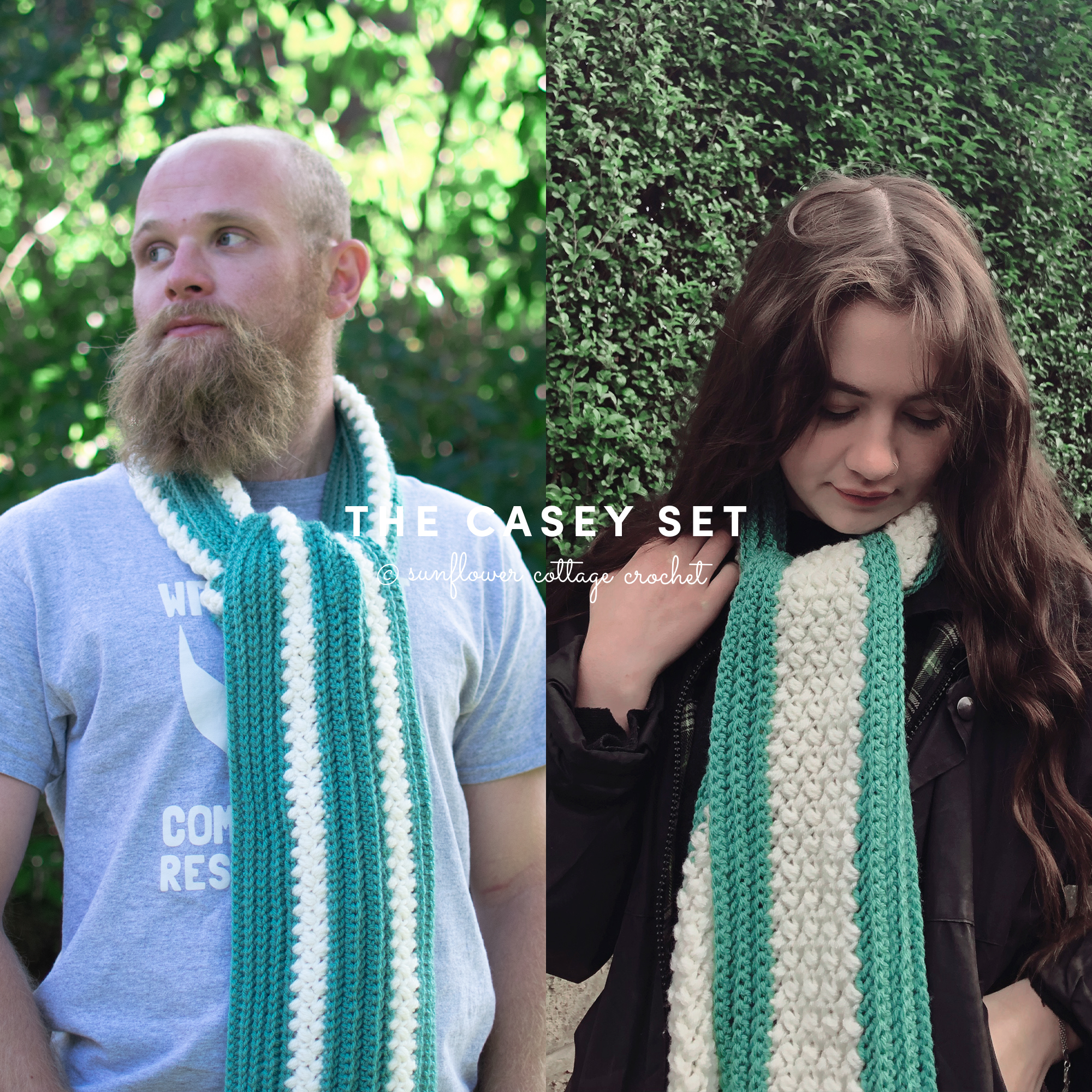 The Casey Set – His and Her's Scarves!