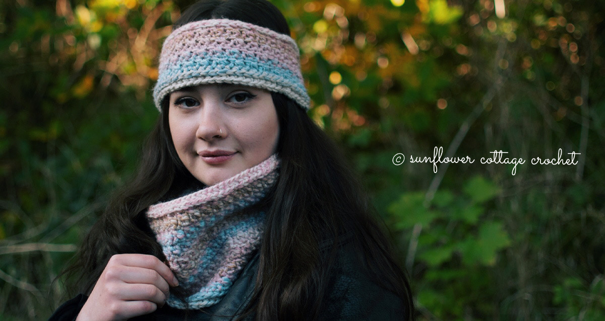 The Hannah Ear Warmer and Cowl Set