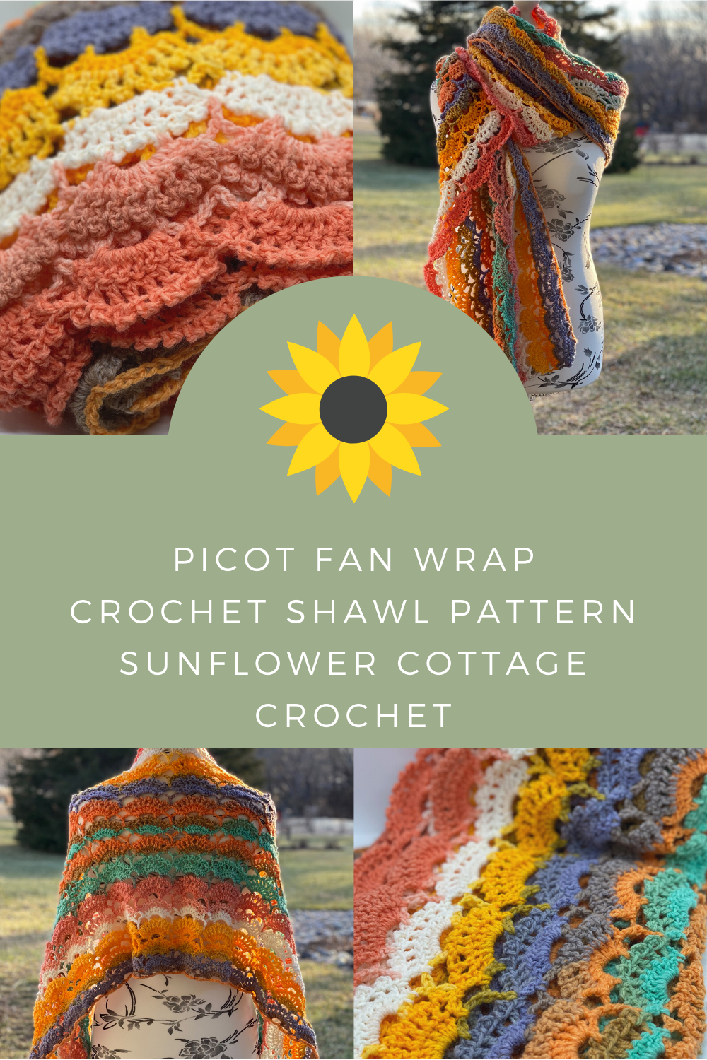 Picot Fan Wrap Pin