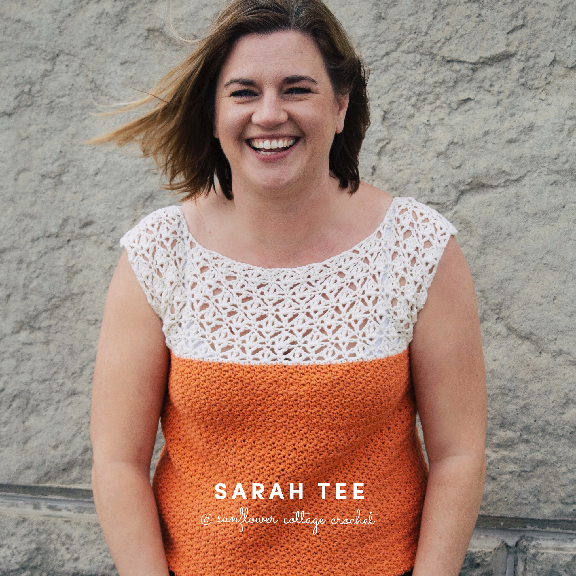 The Sarah Tee is a great spring and summer top with a lacy section at the top perfectly placed to protect your modesty!