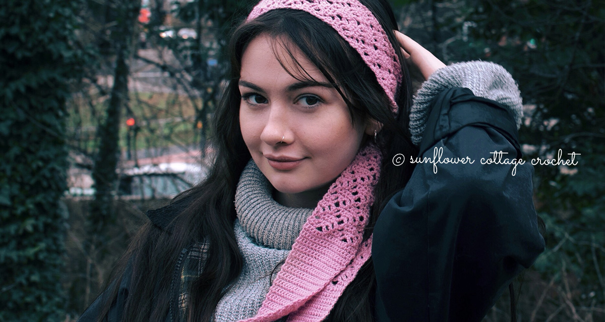 Free Lacy Hair Scarf Pattern