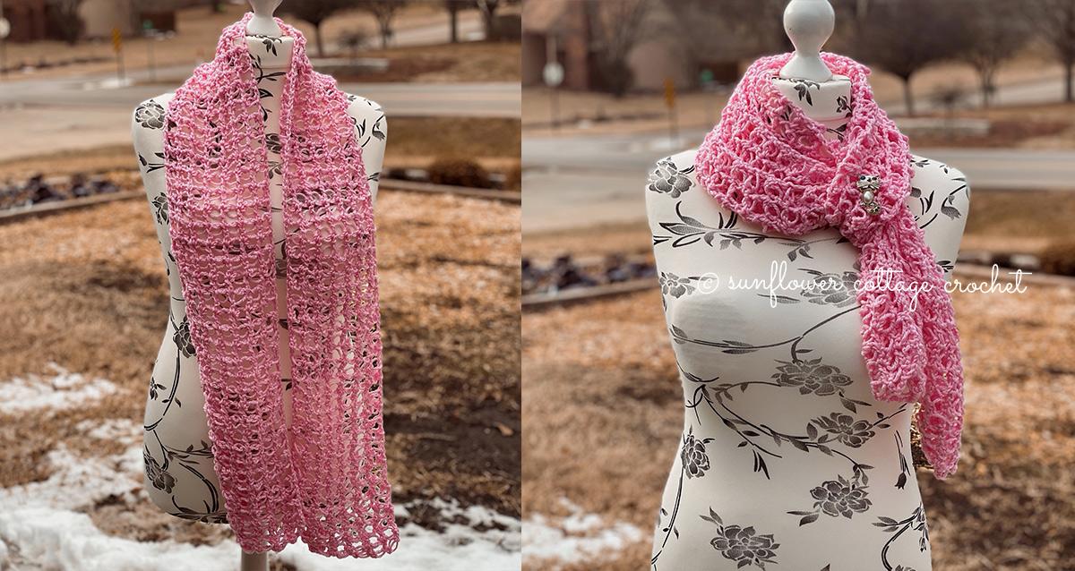 Lacy Solomon's Grid Crochet Scarf